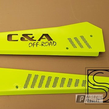 Powder Coated Neon Yellow Polaris Atv Accents