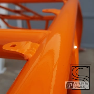 Powder Coated Orange Polaris Rzr Atv Frame