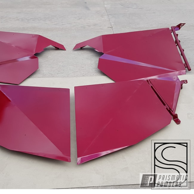 Powder Coating: Automotive,Clear Vision PPS-2974,Polaris,RZR,door,Illusion Malbec PMB-6906