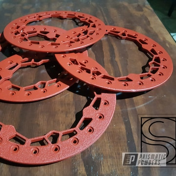 Powder Coated Red Beadlock Rings