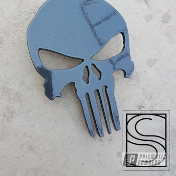Powder Coated Powder Coated Grey Metal Punisher Icon