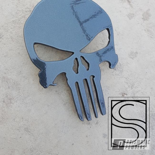 Powder Coated Powder Coated Grey Metal Punisher Icon