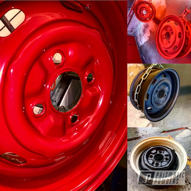 Powder Coating: Wheels,Automotive,Custom Rims,Really Red PSS-4416,Refinish,VW