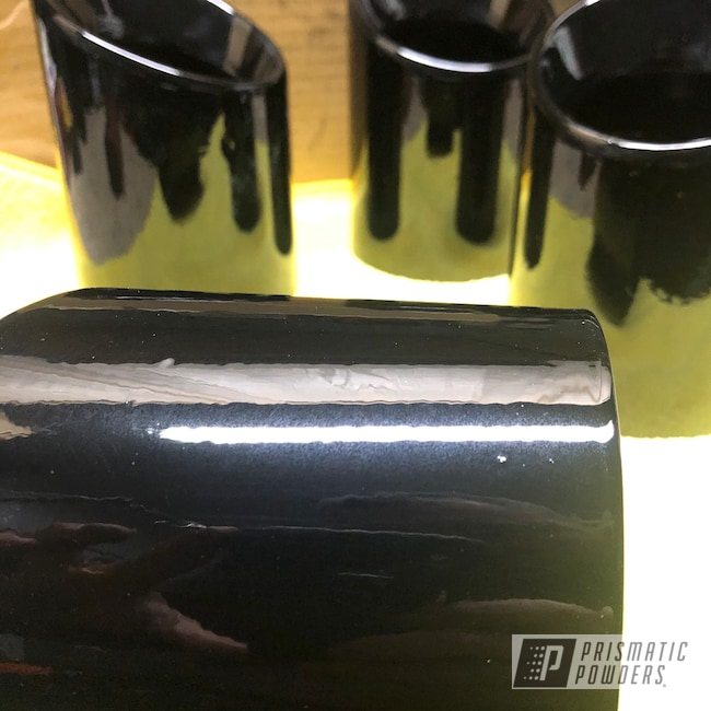 Powder Coating: Automotive,Clear Vision PPS-2974,GLOSS BLACK USS-2603,BMW,Exhaust Tips