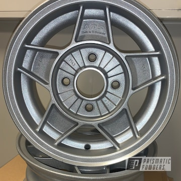Powder Coated Silver Toyota Starlet Rims