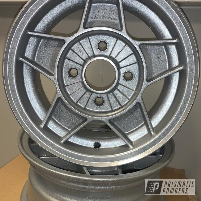 Powder Coating: Wheels,Automotive,Toyota,Aluminium Rims,SILVER METALLIC II PMB-0513