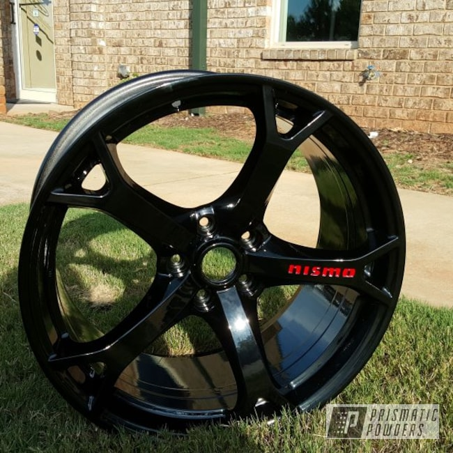 Powder Coating: Wheels,Automotive,Ink Black PSS-0106,Powder Coated Wheels,Astatic Red PSS-1738,Nismo Wheels,Nismo