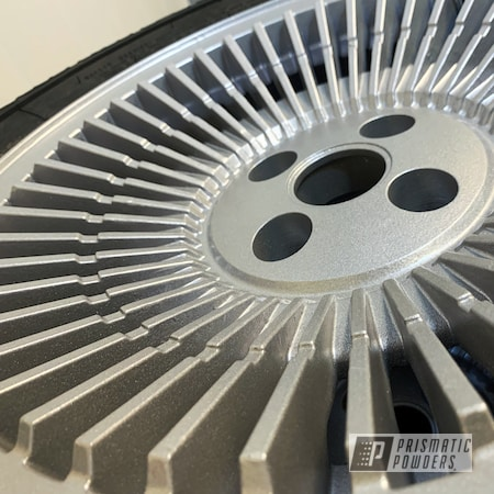 Powder Coating: Wheels,Automotive,DMC,DeLorean,Aluminium Rims,Back to the Future,SILVER METALLIC II PMB-0513
