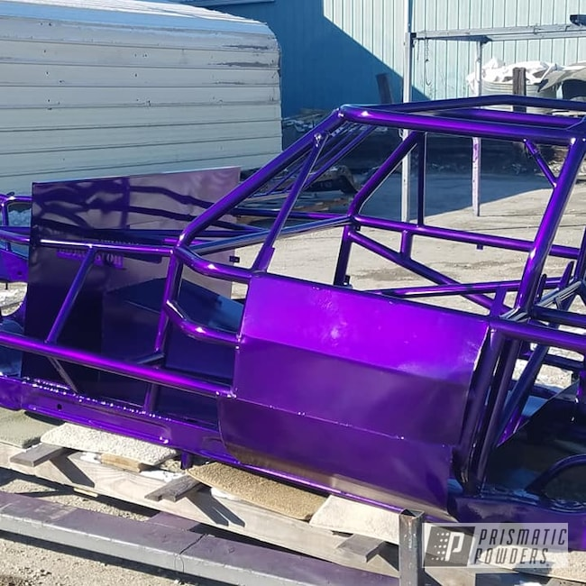 Powder Coating: Illusion Purple PSB-4629,Automotive,Illusion Powder Coating,Clear Vision PPS-2974,Racing,Race Car Chassis