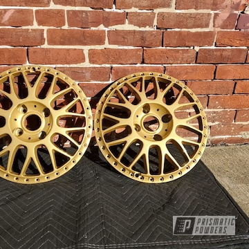 Powder Coated Gold Work Wheel Faces