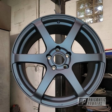 Powder Coated Dark Navy Blue Alloy Enkei Wheels