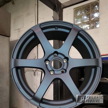 Powder Coating: Wheels,Automotive,Enkei Wheels,Alloy Wheels,Casper Clear PPS-4005,Misty Midnight PMB-4239