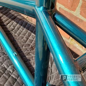 Powder Coated Teal Bmx Bicycle Frame