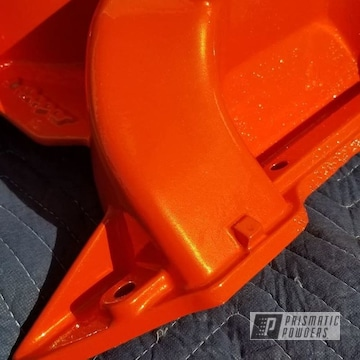 Powder Coated Orange Dodge Engine Parts
