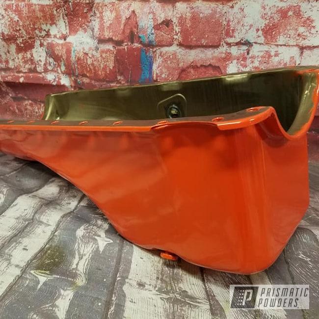 Powder Coating: Automotive,Chevrolet,Oil Pan,Chevy Orange PSS-0163,Automotive Parts