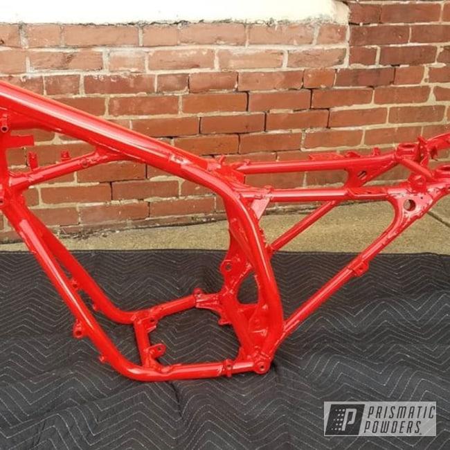 Powder Coating: RAL 3020 Traffic Red,Automotive,Custom Frame,Motorcycle Frame,Honda Motorcycle,Honda,Motorcycles