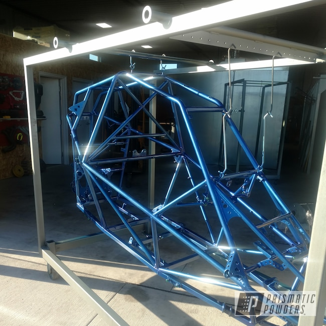 Powder Coating: Automotive,Clear Vision PPS-2974,Custom Frame,Illusion Royal PMS-6925