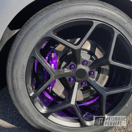 Powder Coating: Illusion,Illusion Powder Coating,brembos,Brembo Calipers,Brembo,Powder Coated Wheels,Clean White PSS-4950,Illusion Purple PSB-4629,Clear Vision PPS-2974,BLACK JACK USS-1522,Purple,blackjack,Purple wheels