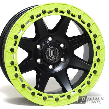 Powder Coating: Automotive,Alloy Wheels,Aluminum Wheel,Chartreuse Sherbert PSS-7068,Aluminium Wheels,Icon Alloys,Beadlock Ring,Aluminum Rims,Beadlocks,OMFperformance,Beadlock