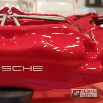 Powder Coated Red Brembo Porsche Brake Calipers