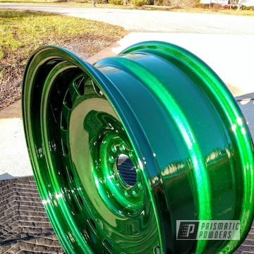 Powder Coated Green 20 Inch Wheels