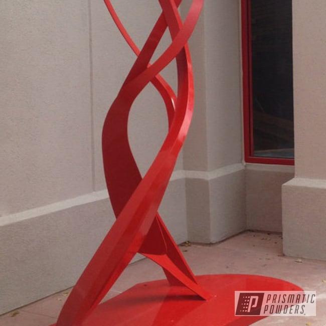 Powder Coating: Sculpture,Red,powder coating,RAL 3002 RAL-3002,powder coated,Prismatic Powders,Art,LuLu Lemon
