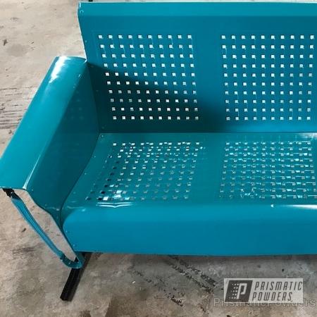 Powder Coating: Single Powder Application,Custom Patio Furniture,Antique Gliders,Solid Tone,RAL 5021 Water Blue,Furniture