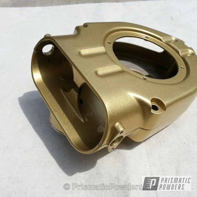 Automotive Air Cleaner Part Coated In Spanish Gold