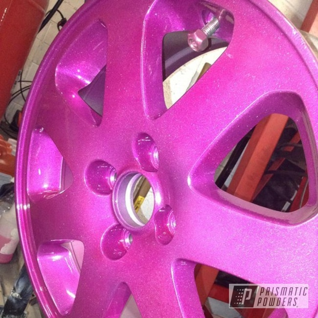 Powder Coating: Wheels,Custom,Automotive,pink,RASPBERRY SPICE II UPB-4664,powder coating,powder coated,Prismatic Powders,Valve Cover