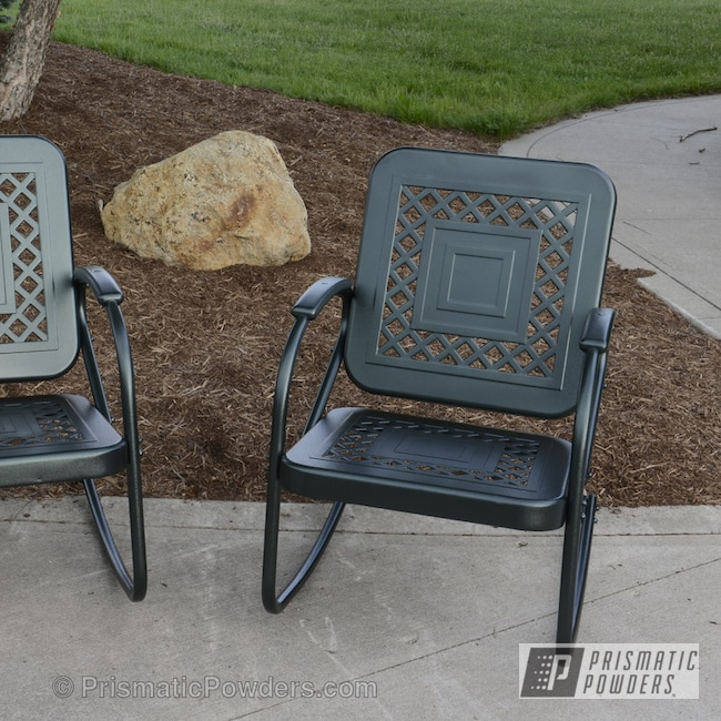 Powder Coating: Chairs powder coated,Ironstone Moss PLB-3130,Miscellaneous,Furniture