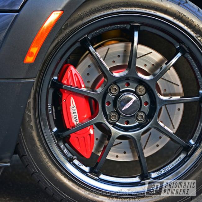 Powder Coating: Wheels,Custom,Mini Cooper,Black Metallic PMB-4105,Black,Custom Mini Cooper Wheels,powder coating,powder coated,Prismatic Powders,Mini Cooper Wheels,Two wheel sets done MINI Cooper Wheels