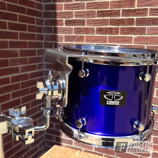 Powder Coating: Custom,Suspension mount,SUPER CHROME USS-4482,chrome,Blue Drum,powder coating,powder coated,Prismatic Powders,Bentley Blue PPB-4711,Miscellaneous