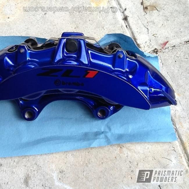Powder Coating: Custom,Automotive,Blue,powder coating,powder coated,Prismatic Powders,ZL1,Intense Blue PPB-4474,Silver Glaze PMB-5280