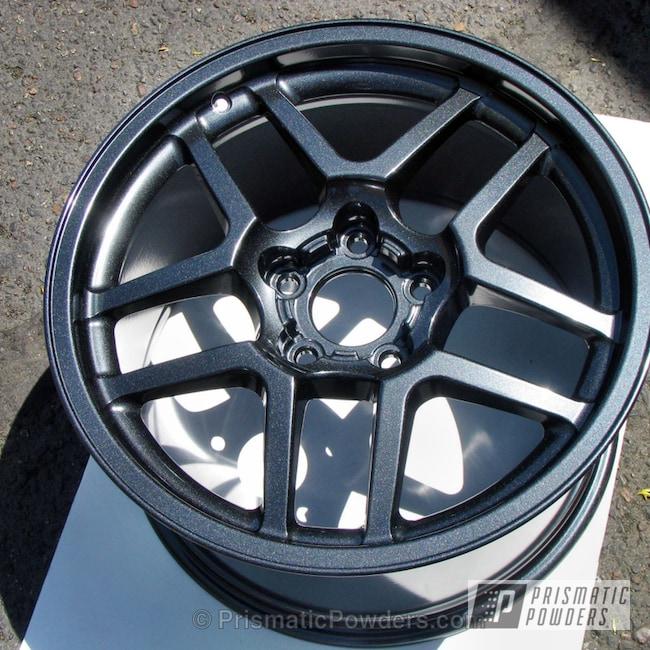 Powder Coating: Wheels,Custom,Automotive,Black,powder coating,powder coated,Prismatic Powders,Lazer Black PMB-4146,Corvette Wheels