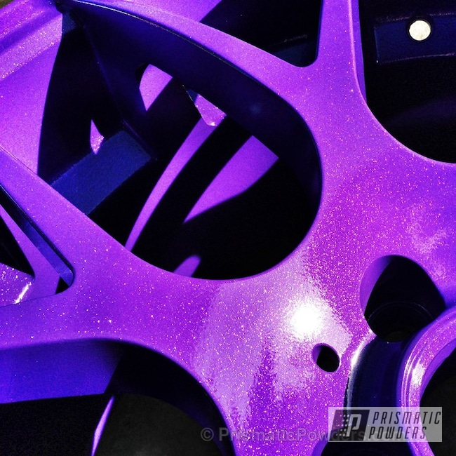 Powder Coating: Wheels,Custom,Chameleon Violet PPB-5731,Megan's Purple Avante Guard Wheels,powder coating,powder coated,Prismatic Powders,Purple wheels,Sinbad Purple PSS-1676