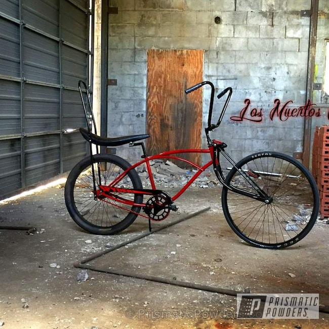 Powder Coating: Sears Spyder,Bicycles,Custom Bicycle,Oxblood Red PSB-5896,GLOSS BLACK USS-2603
