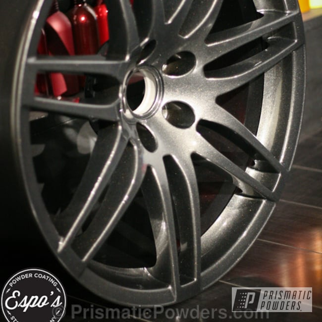 Powder Coating: Speedway Black PMB-1842,Wheels,Clear Vision PPS-2974,Casper Clear PPS-4005,black powder coating wheels