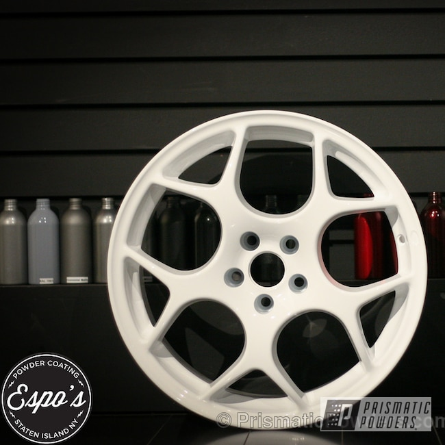 Powder Coating: Wheels,prismatic powder coating white custom wheels,Polar White PSS-5053