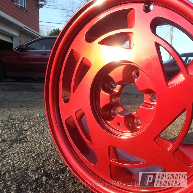 Powder Coating: Wheels,Custom,Sweet cherry corvette wheels,SUPER CHROME USS-4482,chrome,red,SWEET CHERRY UPB-1198,powder coating,powder coated,Prismatic Powders