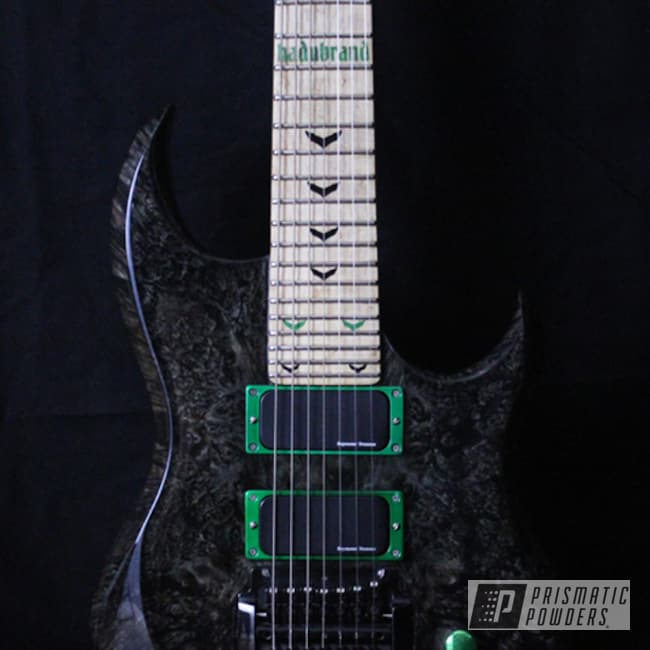 Powder Coating: Custom Hadubrand Guitar,7-String,Art,Rancher Green PPB-6935,Miscellaneous