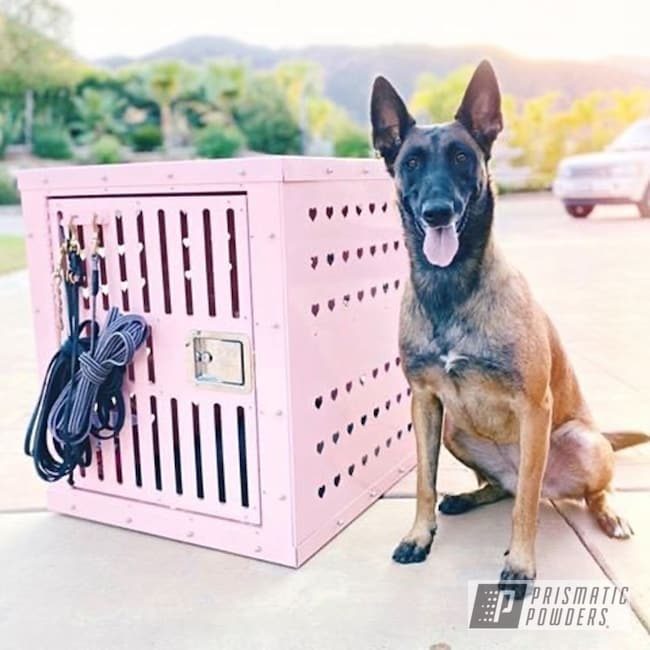 Pink Tnc Fabricating Soft Pink Dog Crate