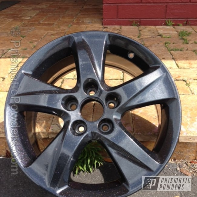 Powder Coating: Shattered Glass PPB-5583,Wheels,Custom,Black,powder coating,powder coated,Prismatic Powders,PEARLIZED BLACK PMB-1237