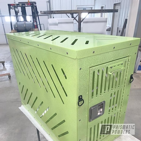 Powder Coating: Rockstar Sparkle PPB-5835,Dogs,Stem Green PSB-6605,Dog Crate,Miscellaneous