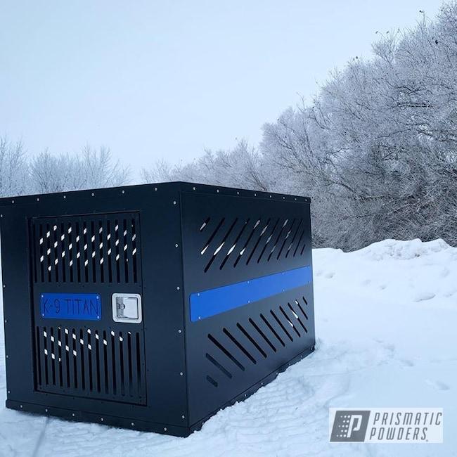 Powder Coating: Splatter Black PWS-4344,Southwest Blue PSS-0845,Dogs,Dog Crate,Miscellaneous