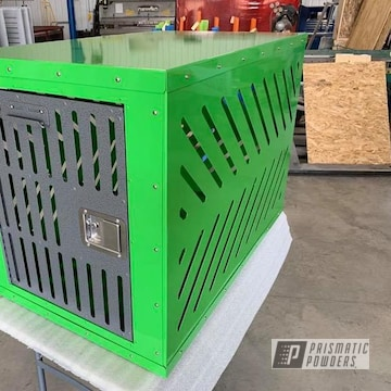 Powder Coated Green Tnc Fabricating Dog Crate