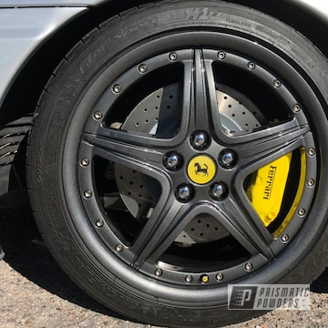 Powder Coated Grey Ferrari Wheels