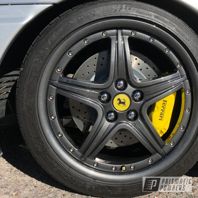 Powder Coating: Wheels,Automotive,Kingsport Grey PMB-5027,Ferrari