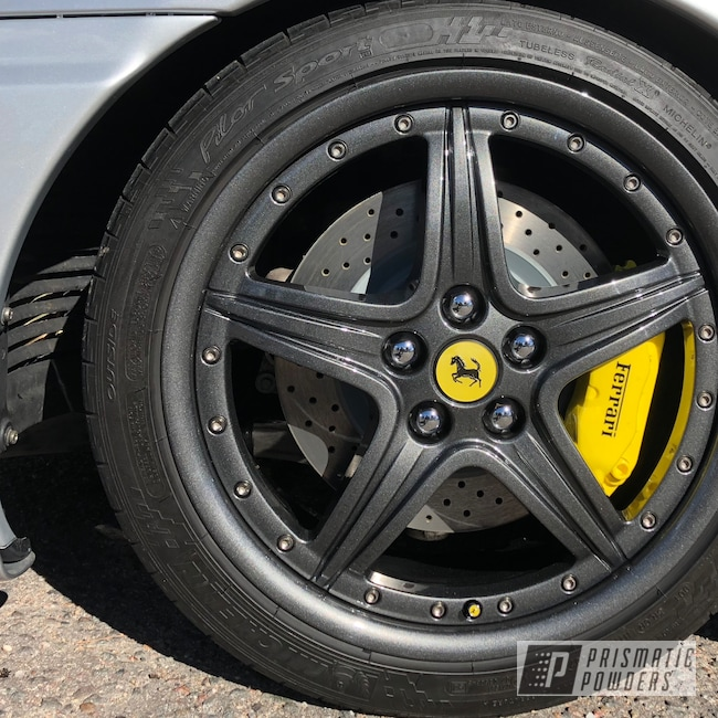 Powder Coating: Wheels,Automotive,Kingsport Grey PMB-5027,Ferrari