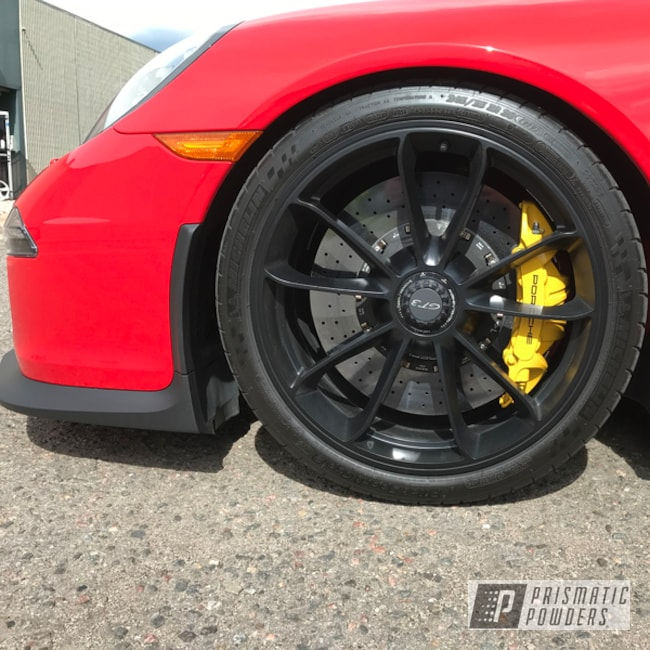 Powder Coating: Wheels,Matte Black PSS-4455,Automotive,Porsche