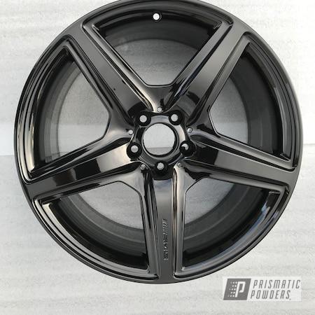 Powder Coating: Wheels,Automotive,Ink Black PSS-0106,AMG,AMG Wheels